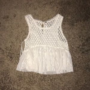 FREE PEOPLE LACE TOP XS BARELY WORN